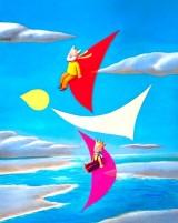 「空とぶジオ&マフィー」原画展